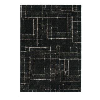 """Somette Marion Collection Charcoal Abstract Area Rug (6'7"""" x 9'6"""")"""