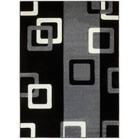 LYKE Home Contemporary Geometric Grey Area Rug