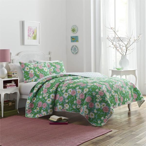 Poppy & Fritz Poppy Garden Cotton 3-piece Quilt Set