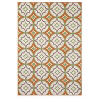 "Rizzy Home Glendale Collection PowerLoomed Ivory Patterned Geometric Accent Rug - 2'3"" x 4'"