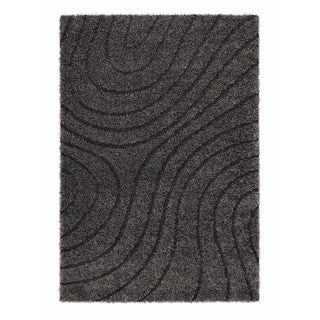 Somette Slater Collection Graphite Abstract Area Rug (5.3' x 7.7')