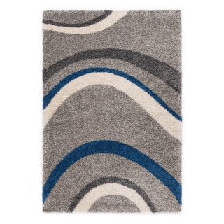 Somette Slater Collection Slate Abstract Area Rug (5.3' x 7.7')