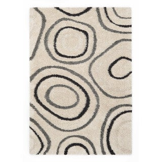Somette Slater Collection Ivory Geometric Area Rug (5.3' x 7.7')