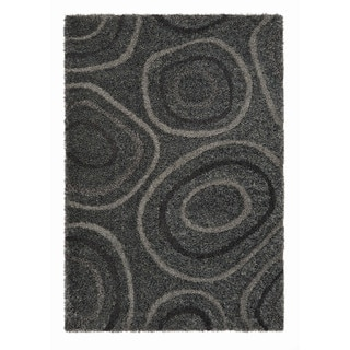 Somette Slater Collection Graphite Geometric Area Rug (5.3' x 7.7')