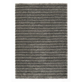 Somette Slater Collection Slate Striped Area Rug (5.3' x 7.7')