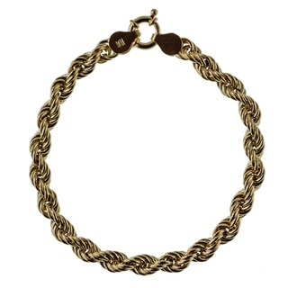 Decadence 14k Yellow Gold 6mm Rope Bracelet