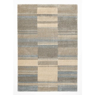 Somette Crestview Collection Beige Abstract Area Rug (5.3' x 7.7')