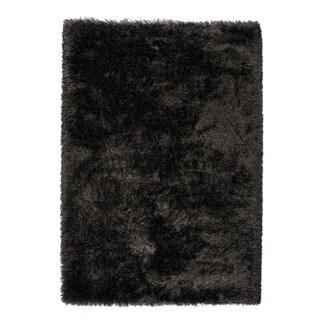 Somette Gratz Collection Carbon Solid Shag Area Rug (5.3' x 7.7')