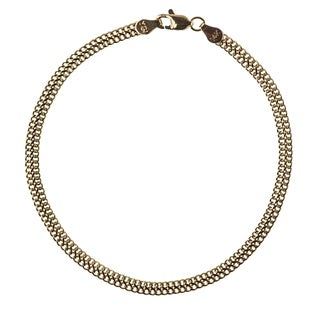 Decadence 14k Yellow Gold Seduza Link Bracelet