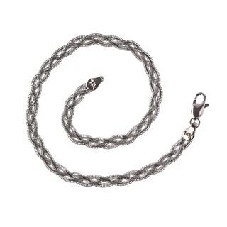 Decadence 14k White Gold Weave Bracelet