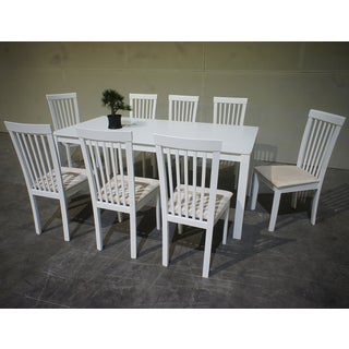 Warehouse of Tiffany Megan 9-piece Cream Dining Set