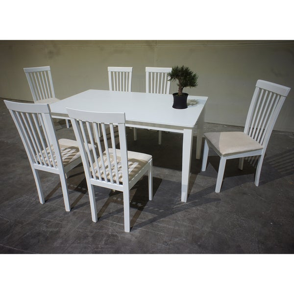 Warehouse Of Tiffany Megan 7 Piece Cream Dining Set