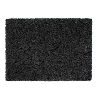 Somette Loretto Collection Charcoal Solid Shag Area Rug (5.3' x 7.7')