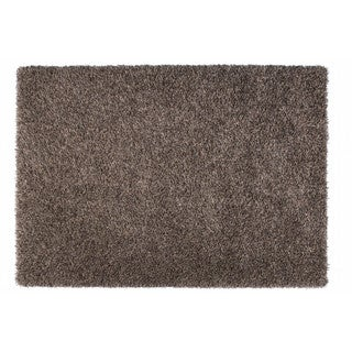 Somette Duckwater Collection Grey Solid Shag Area Rug (5.3' x 7.7')