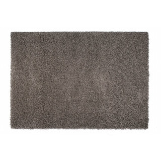 Somette Duckwater Collection Dark Grey Solid Shag Area Rug (5.3' x 7.7')