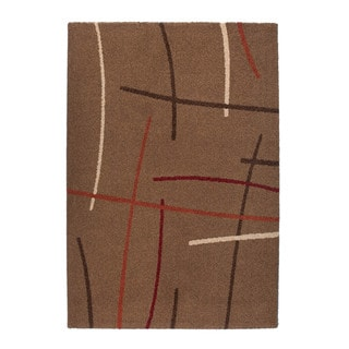 Somette Montello Collection Brown Geometric Area Rug (5.3' x 7.7')