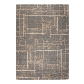 """Somette Marion Collection Brown Abstract Area Rug (7'10"""" x 11'2"""")"""