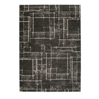 "Somette Marion Collection Grey Abstract Area Rug (7'10"" x 11'2"")"