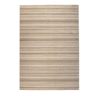 "Somette Marion Collection Beige Striped Area Rug (7'10"" x 11'2"")"