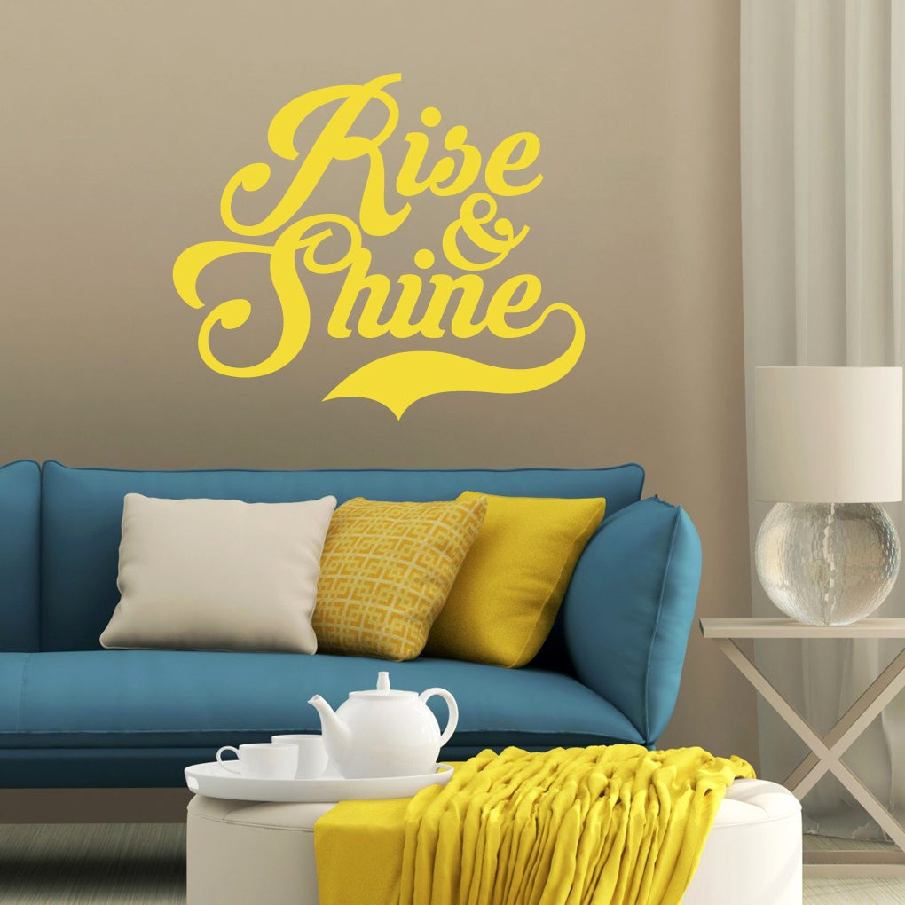 Rise And Shine Wall Decal 36 Inch Wide X 30 Inch Tall Overstock 11149212