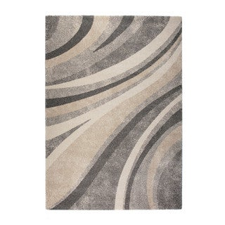 "Somette Marion Collection Grey Striped Area Rug (7'10"" x 11'2"")"