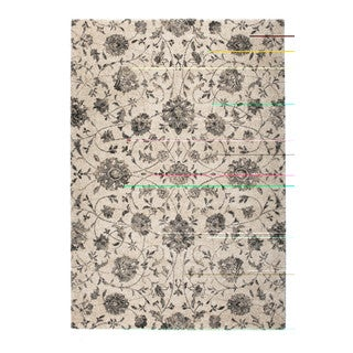 "Somette Marion Collection Cream Floral Area Rug (7'10"" x 11'2"")"