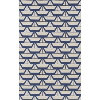 Hand Hooked Col Wool Rug (7'6 x 9'6)