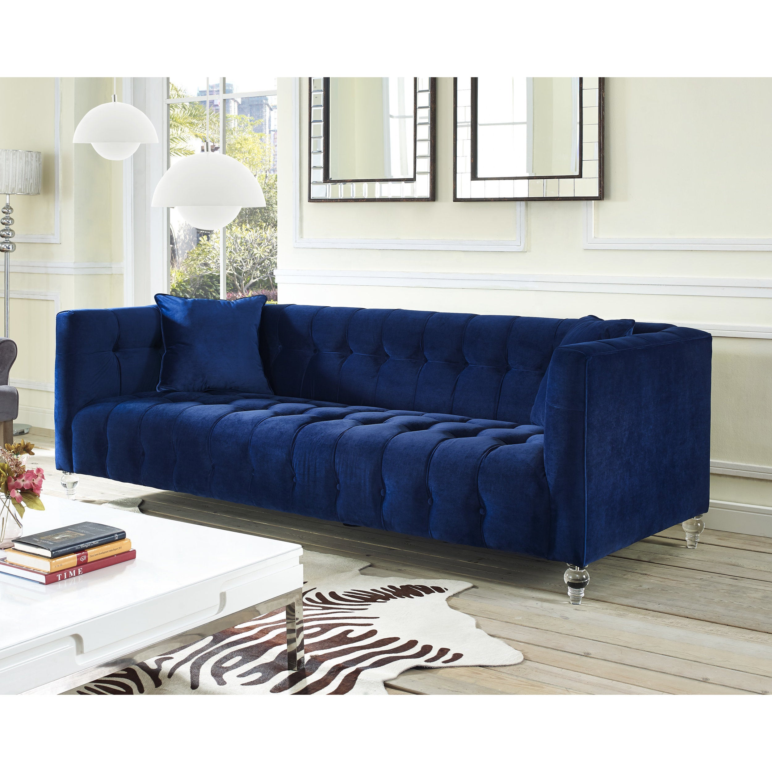 Swell Bea Navy Velvet Sofa Download Free Architecture Designs Photstoregrimeyleaguecom