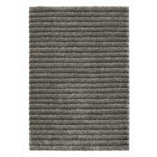 """Somette Slater Collection Slate Striped Area Rug (6'7"""" x 9'6"""")"""