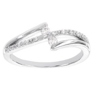 H Star Sterling Silver 1/8ct TDW Diamond Promise Ring (I-J, I2-I3)