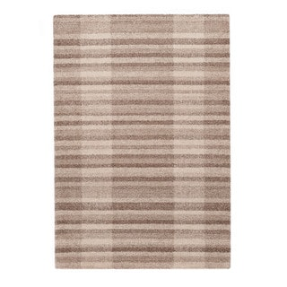 "Somette Lockwood Collection Tan Striped Area Rug (6'7"" x 9'6"")"
