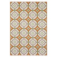 Rizzy Home Glendale Collection PowerLoomed Ivory Patterned Geometric Area Rug - 7'10 x 10'10