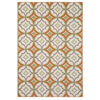 "Rizzy Home Glendale Collection PowerLoomed Ivory Patterned Geometric Area Rug - 6'7"" x 9'6"""