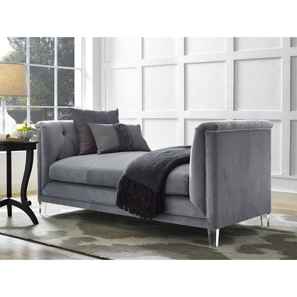 Naomi Grey Loveseat Free Shipping Today Overstockcom 18147083