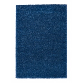 """Somette Slater Collection Blue Solid Area Rug (6'7"""" x 9'6"""")"""