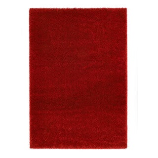 "Somette Slater Collection Red Solid Area Rug (6'7"" x 9'6"")"