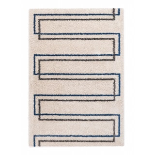 """Somette Slater Collection Ivory Geometric Area Rug (6'7"""" x 9'6"""")"""
