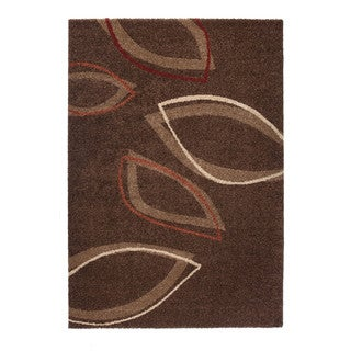 "Somette Montello Collection Brown Geometric Area Rug (6'7"" x 9'6"")"