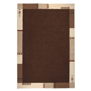 "Somette Montello Collection Brown Border Area Rug (6'7"" x 9'6"")"