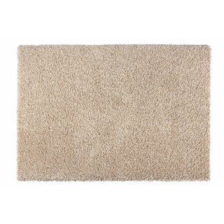 """Somette Loretto Collection Natural Solid Shag Area Rug (6'7"""" x 9'6"""")"""