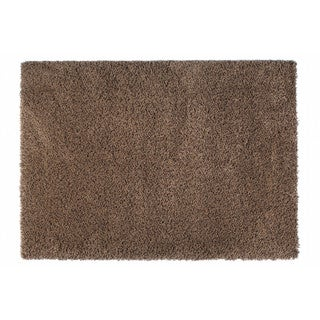 "Somette Loretto Collection Mocha Solid Shag Area Rug (6'7"" x 9'6"")"