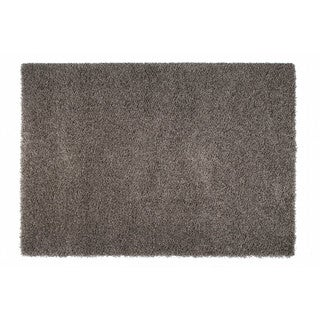 "Somette Duckwater Collection Dark Grey Solid Shag Area Rug (6'7"" x 9'6"")"