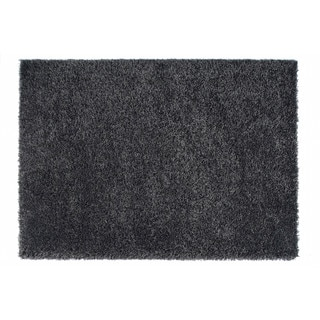 "Somette Loretto Collection Graphite Solid Shag Area Rug (6'7"" x 9'6"")"