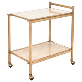 Safavieh Couture Collection Harley Marble Top Gold Bar Cart