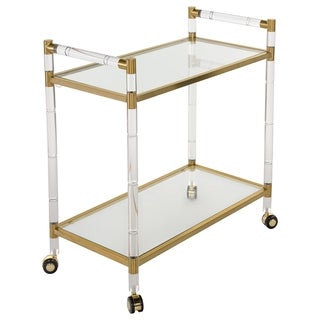 Safavieh Couture High Line Collection Duval Bronze Brass Bar Trolley