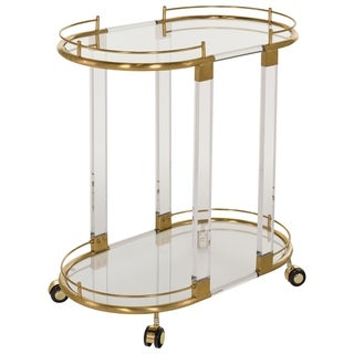 Safavieh Couture High Line Collection Lennon Bronze Brass Trolley