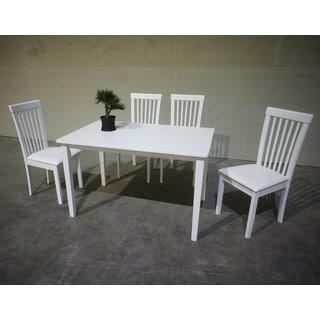 Warehouse of Tiffany Megan 5-piece White Dining Set
