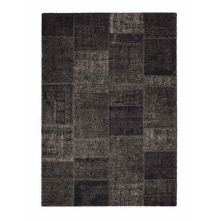 "Somette Baxter Collection Charcoal Geometric Area Rug (6'7"" x 9'6"")"