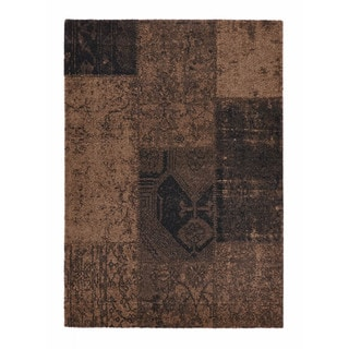 """Somette Baxter Collection Brown Abstract Area Rug (6'7"""" x 9'6"""")"""
