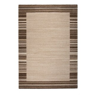 """Somette Marion Collection Beige Border Area Rug (6'7"""" x 9'6"""")"""
